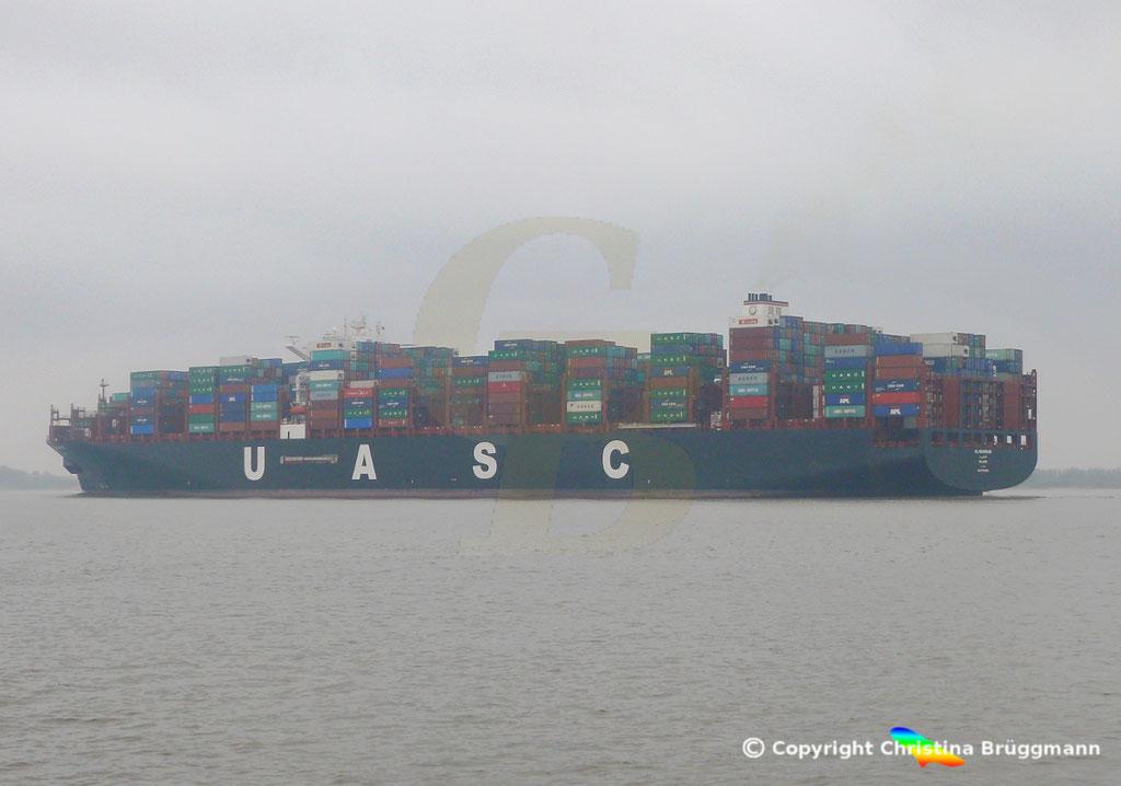 Containerschiff AL MASHRAB, Elbe 29.03.2017, BILD 5