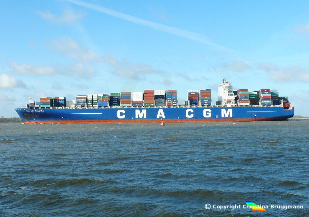 "Containerschiff ""CMA CGM COLUMBA"" Elbe 13.04.2015, BILD 4"