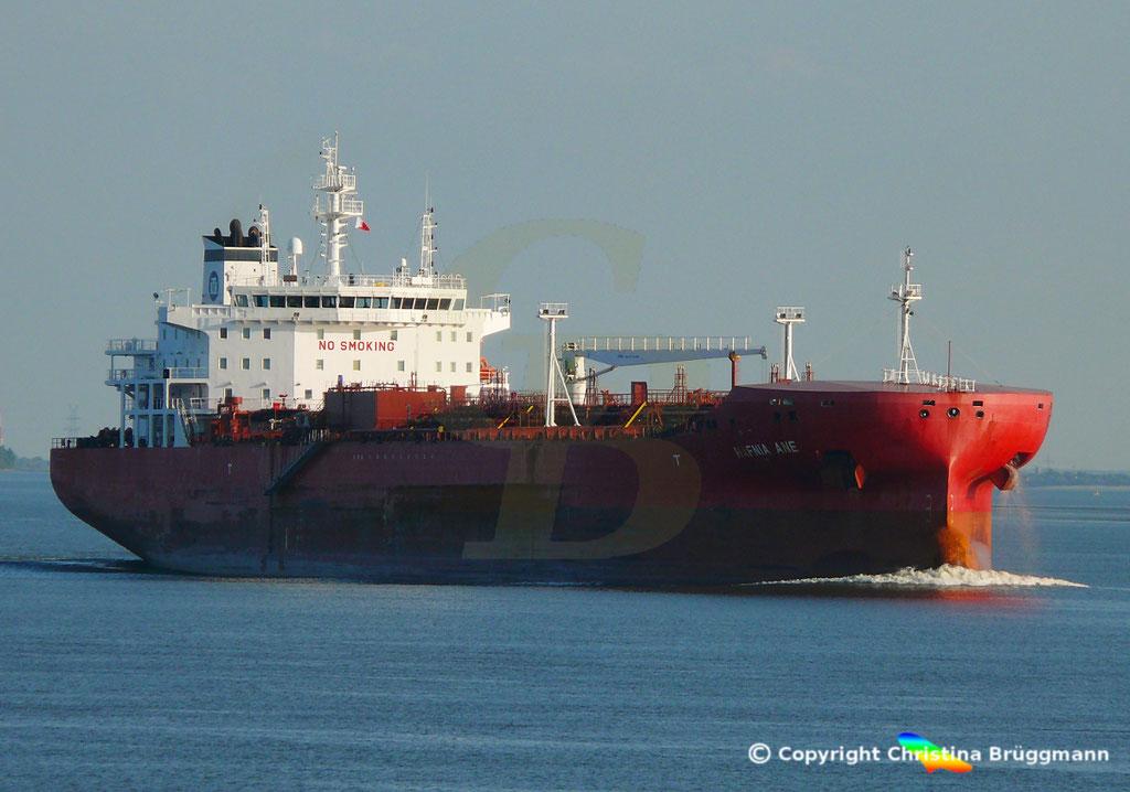 Tanker HAFNIA ANE, Elbe 05.09.2018,  BILD 1