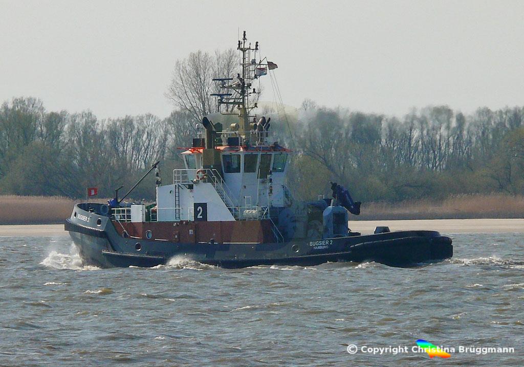 Schlepper BUGSIER 2, Elbe 02.04.2019,  BILD 5