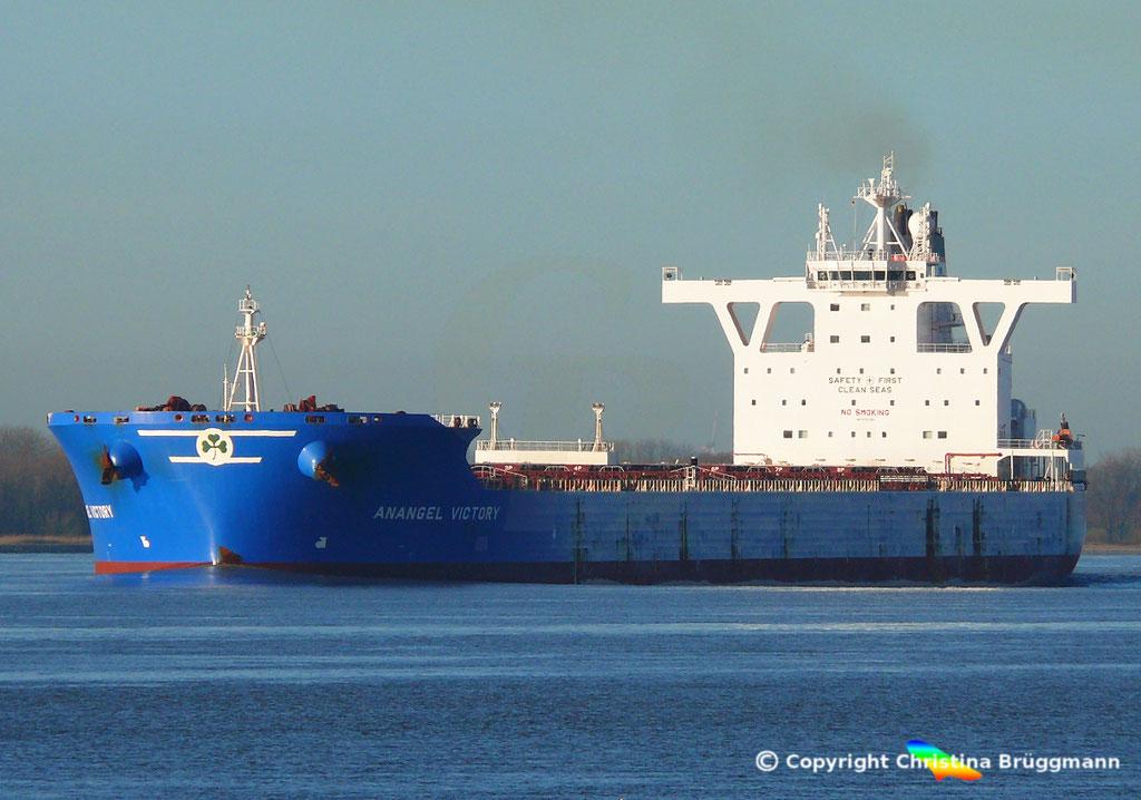 Bulk Carrier ANANGEL VICTORY, Elbe 03.01.2019, BILD 1