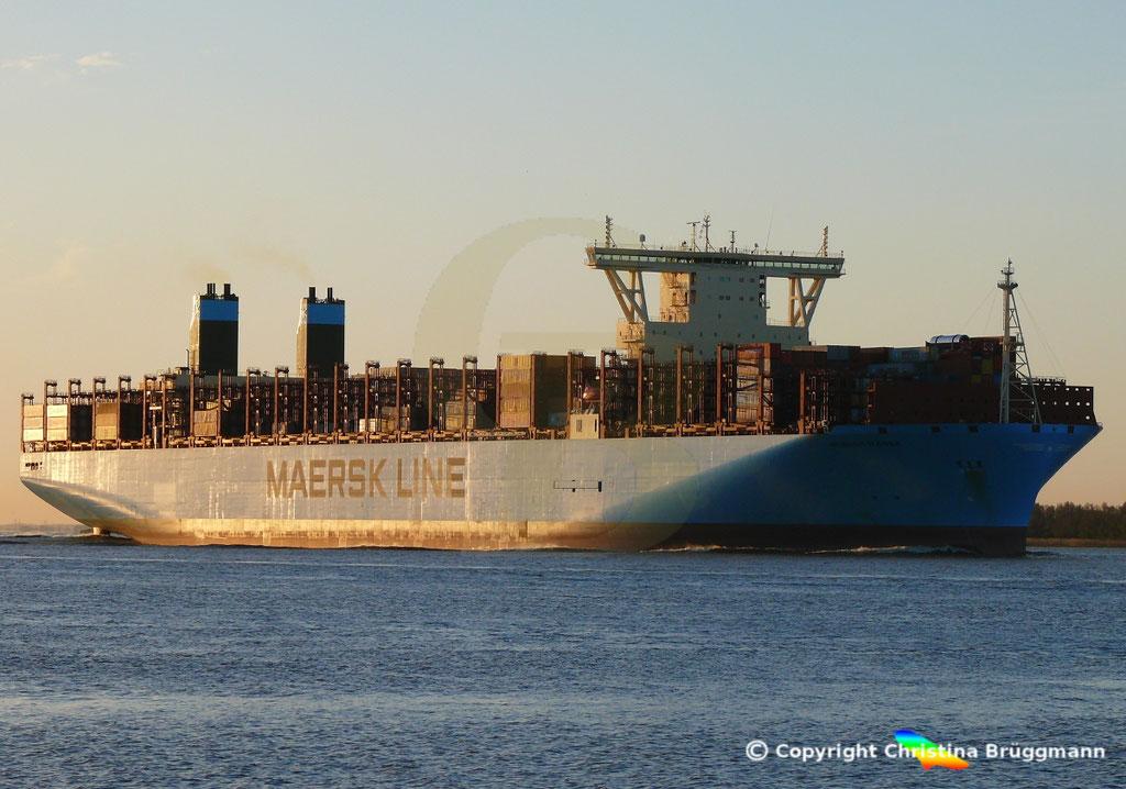 Containerschiff MUNICH MAERSK, Elbe 30.10.2017, BILD 2