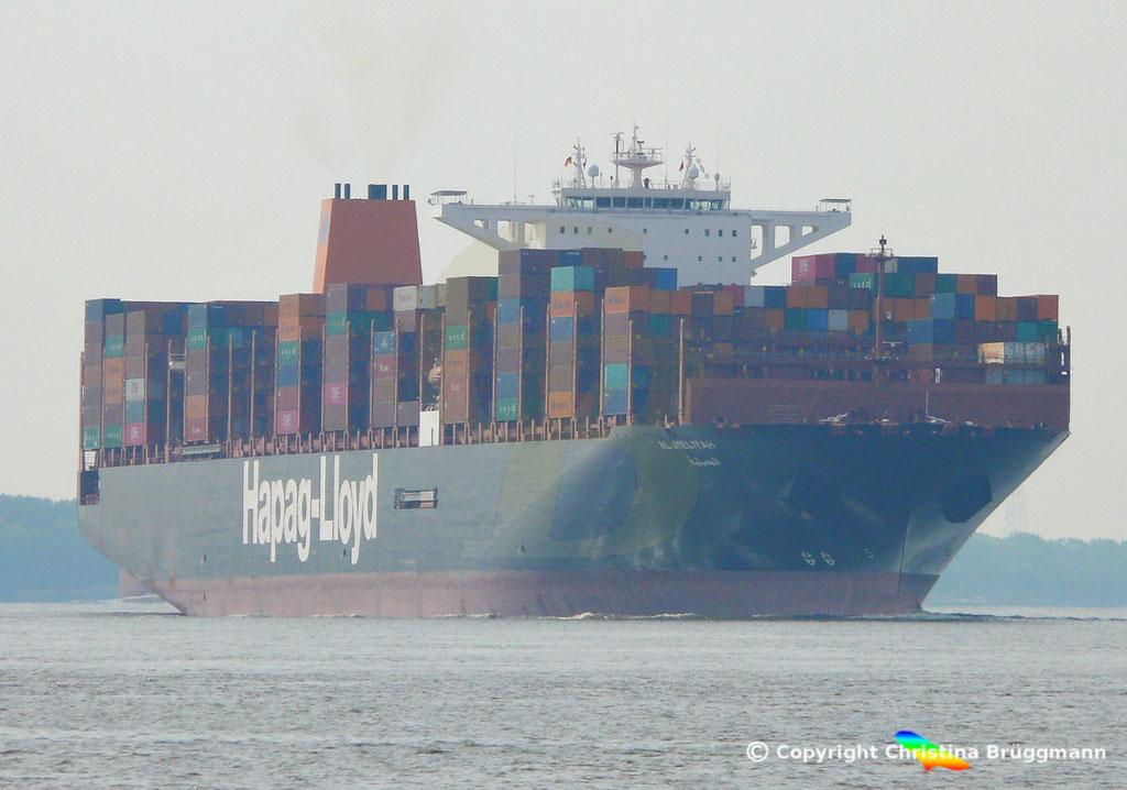 Containerschiff AL JMELIYAH, Elbe 08.05.2019 /  BILD 1