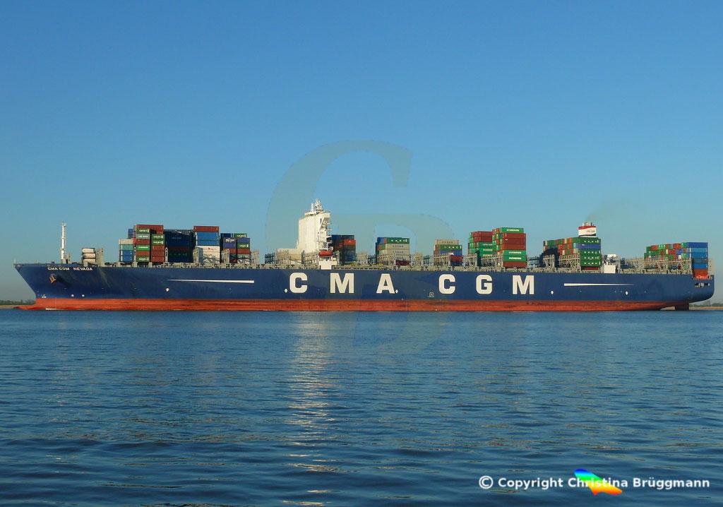 Containerschiff CMA CGM NEVADA, Elbe 19.04.2017, BILD 5