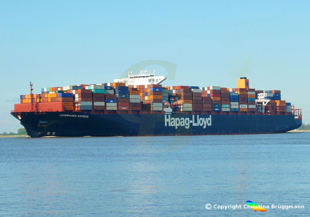 Containerschiff LEVERKUSEN EXPRESS, Elbe 19.04.2017 / BILD 4