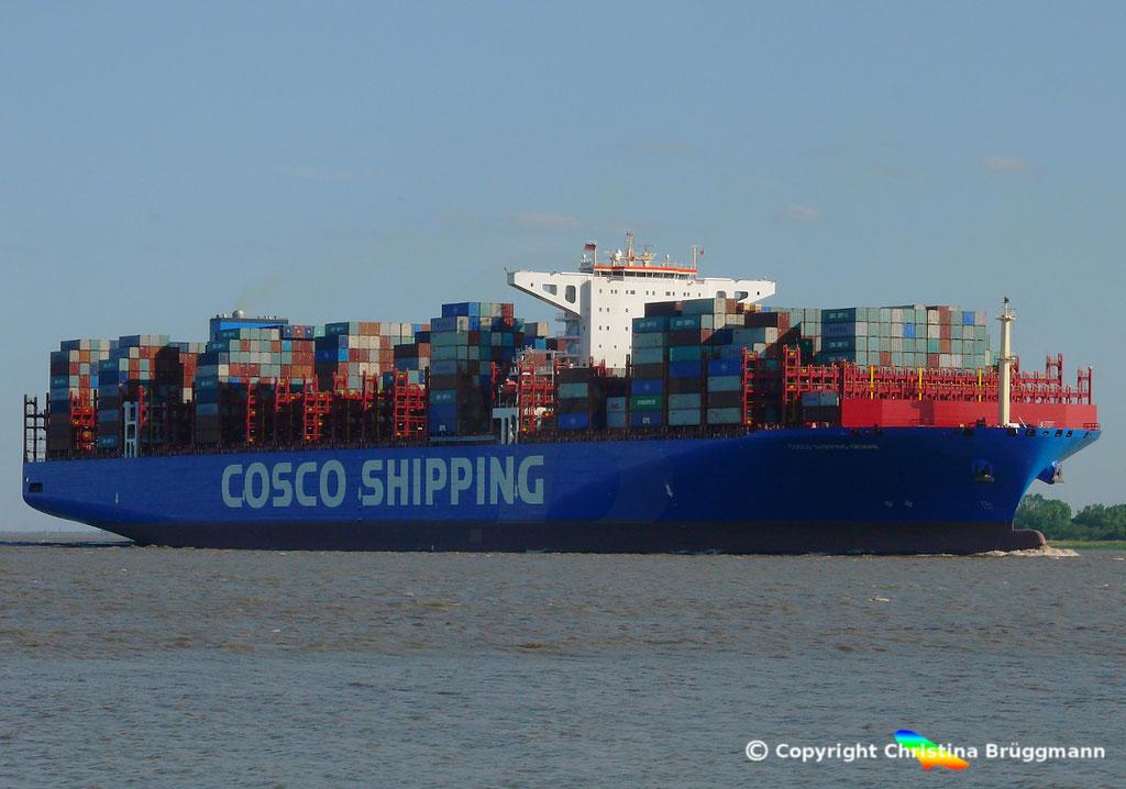 Containerschiff COSCO SHIPPING GEMINI, 21.05.2018, BILD 2