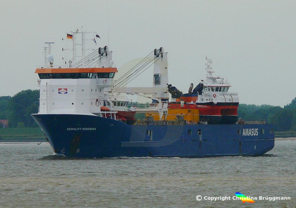 EEMSLIFT HENDRIKA auf der Elbe 18.08.2018 / Bild 1