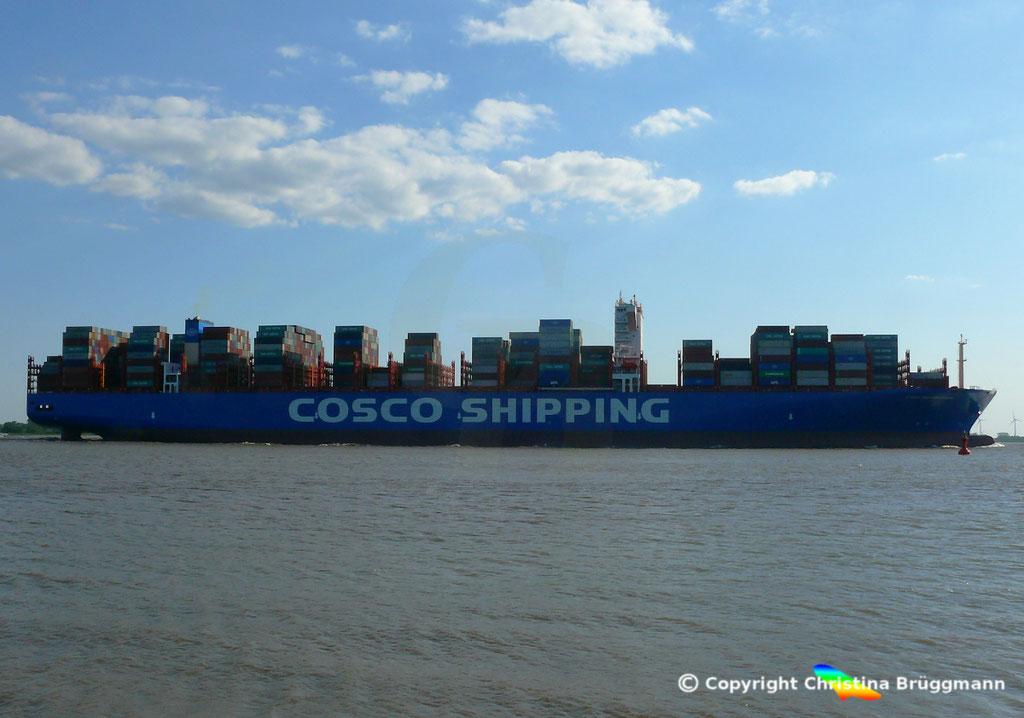 Containerschiff COSCO SHIPPING GEMINI, 21.05.2018, BILD 5