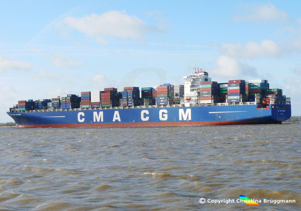"Containerschiff ""CMA CGM COLUMBA"" Elbe 13.04.2015, BILD 5"