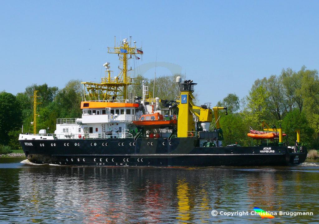 Vermssungs- Wrachsuch- u. Forschungsschiff ATAIR, Nord-Ostsee Knal 09.05.2019, BILD 5