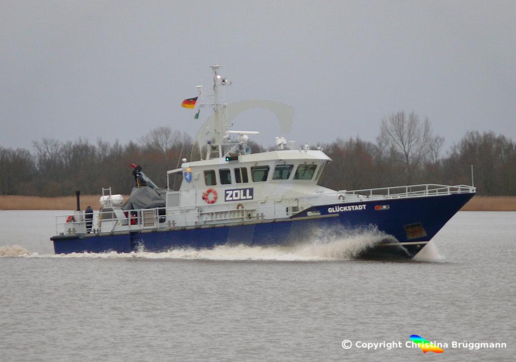 Zollboot Glückstadt, Elbe 10.03.2019