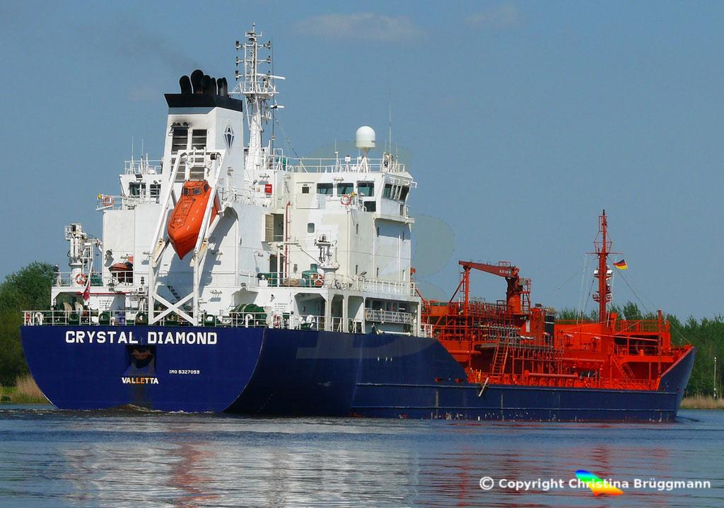 Chemie- /Öltanker CRYSTAL DIAMOND, Nord Ostsee Kanal 09.05.2018,  BILD 5