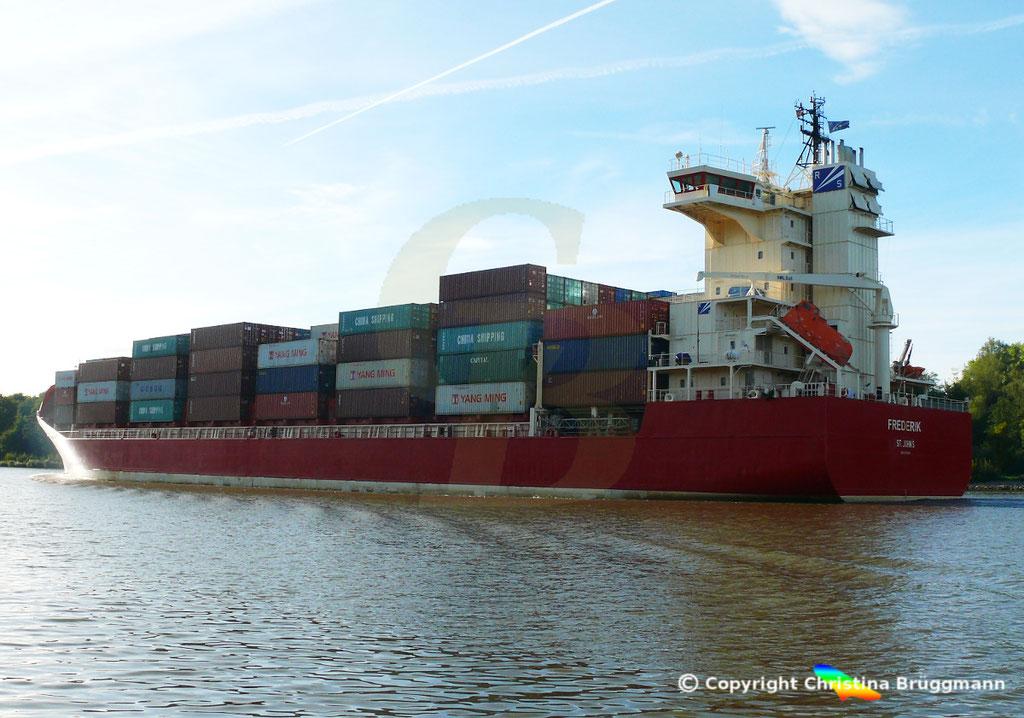 Containerschiff FREDERIK, 25.09.2018, Bild 4