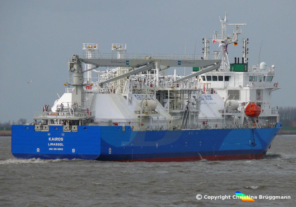 LNG Bunker-Tanker KAIROS; Elbe 09.02.2019,  BILD 6