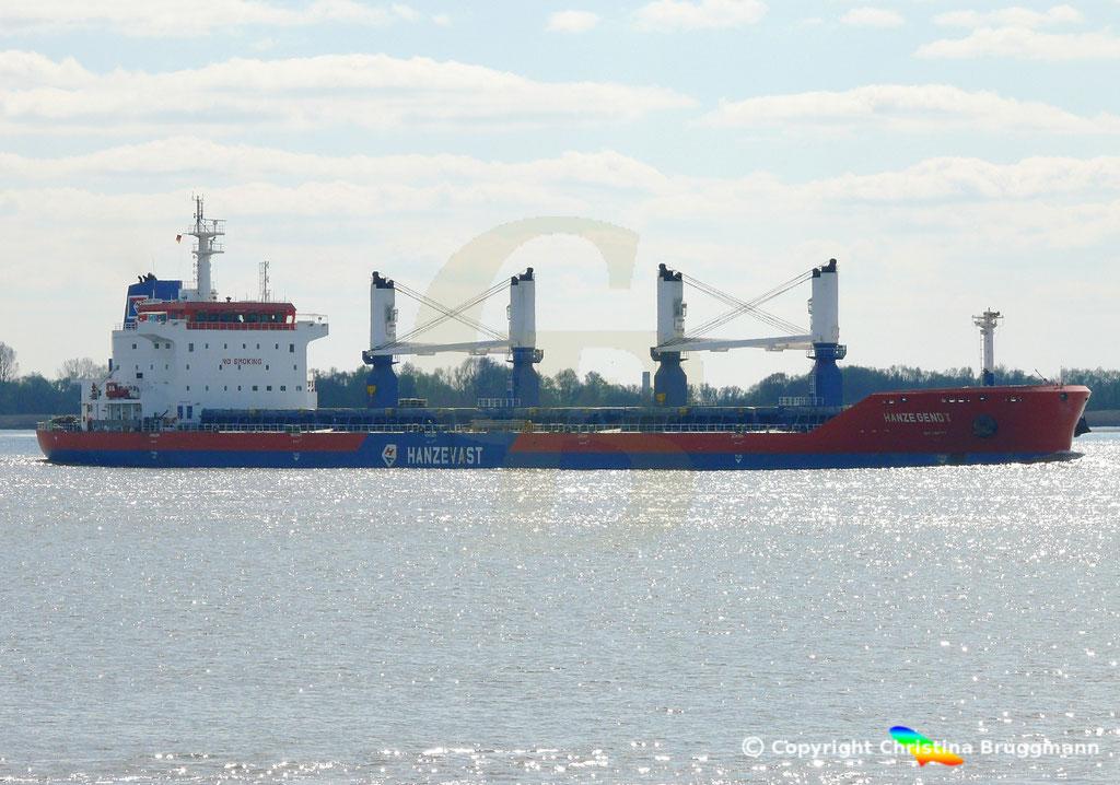 Bulk Carrier HANZE GENDT, Elbe 10.04.2019,  BILD 3