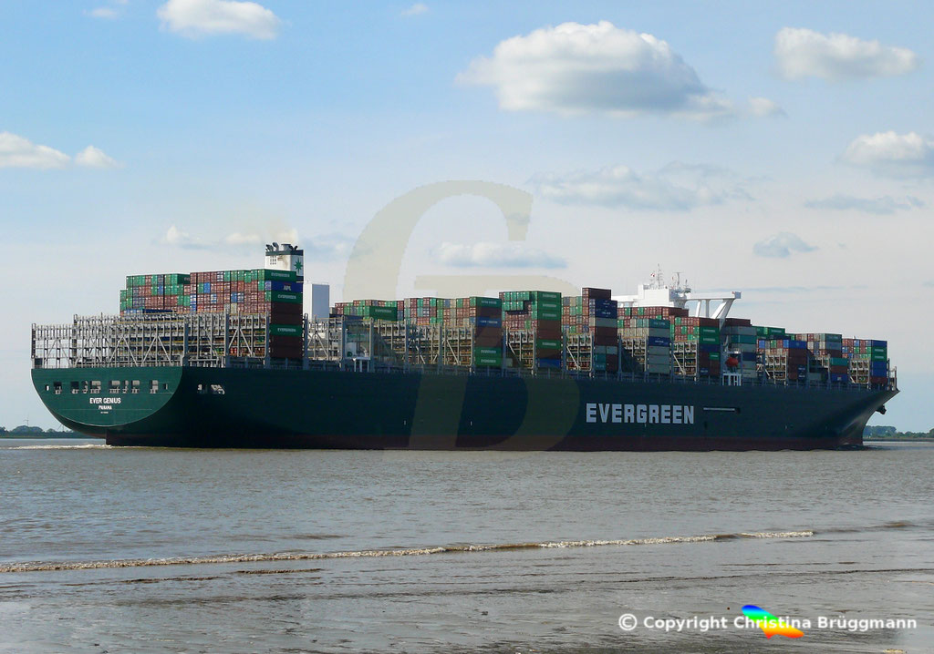 Containerschiff EVER GENIUS, Elbe 14.09.2018, BILD 4