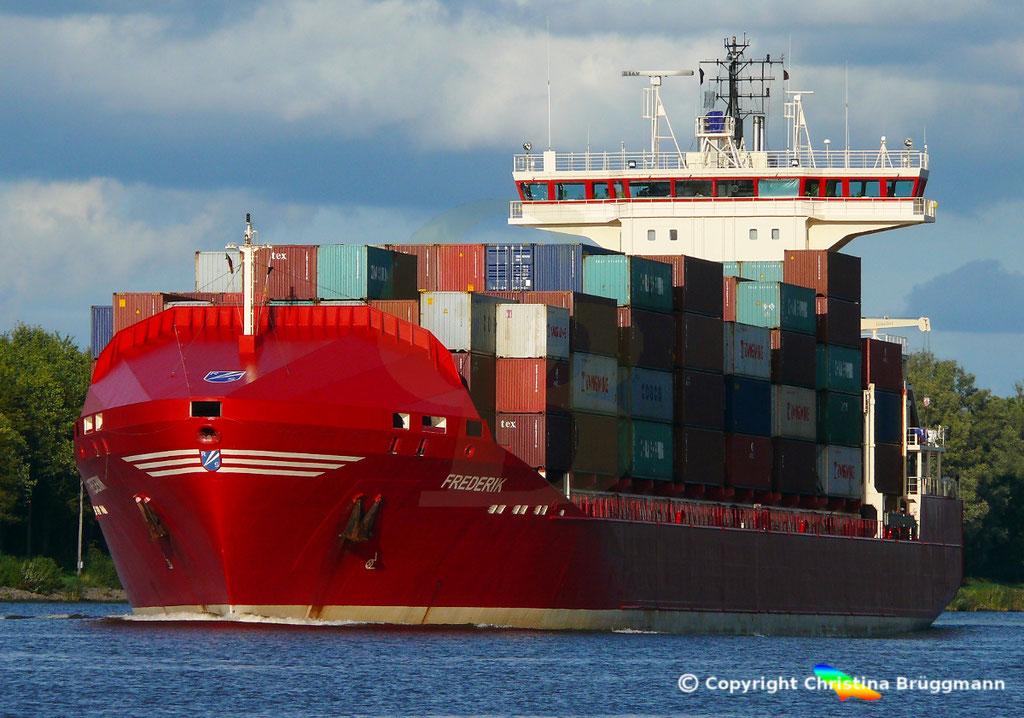 Containerschiff FREDERIK, 25.09.2018, Bild 1