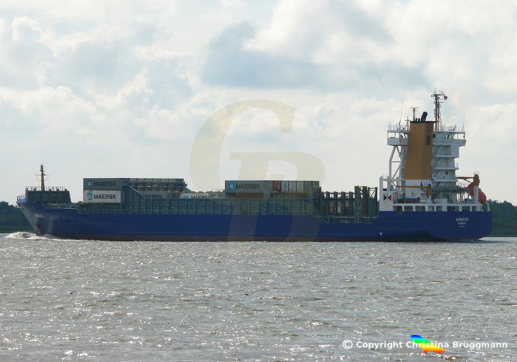 Containerschiff (Feeder) ANDANTE, 07.09.2018, Bild 5