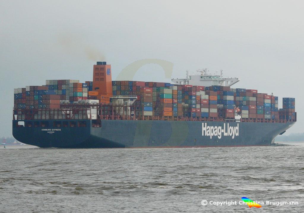 Containerschiff HAMBURG EXPRESS, Elbe 29.03.2017, BILD 7