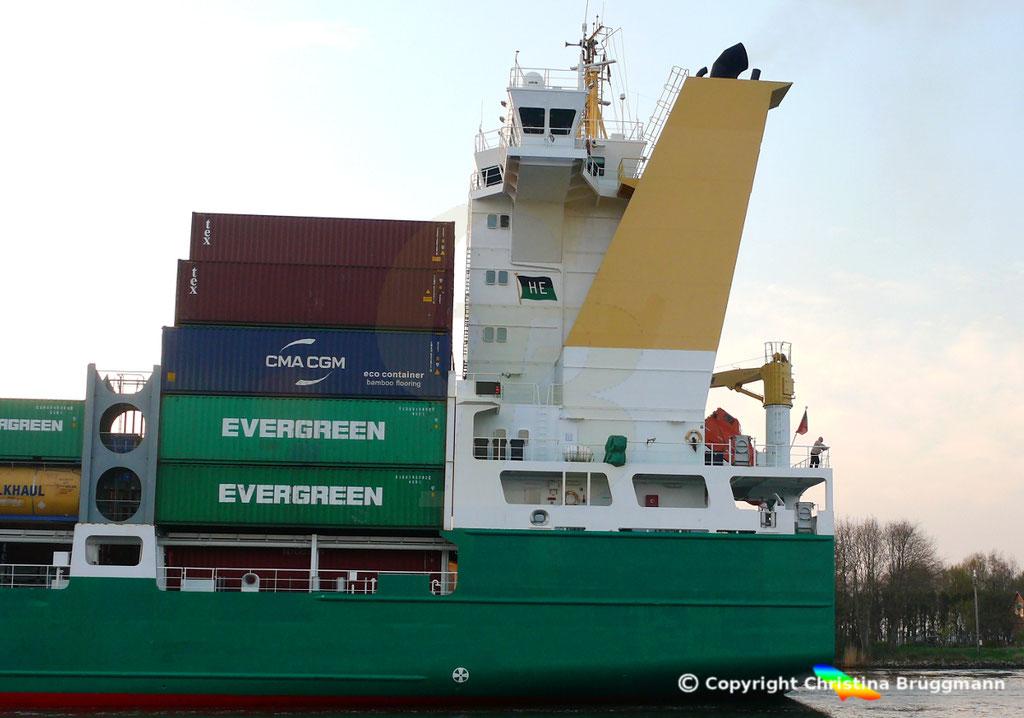 Containerschiff HEINRICH EHLER, NOK 07.04.2019, Sietas TYP 178,  BILD 5