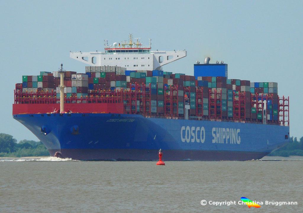 Containerschiff COSCO SHIPPING TAURUS, 25.05.2018, BILD 2