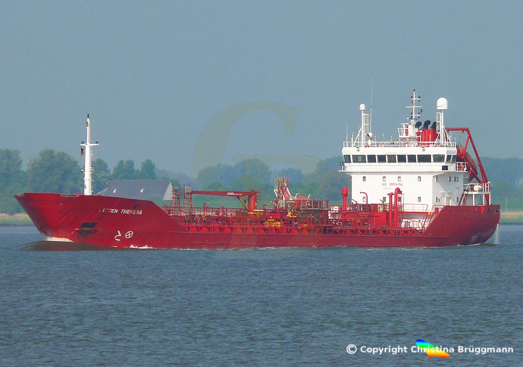 Tanker BITTEN THERESA, Elbe 13.05.2018,  BILD 1