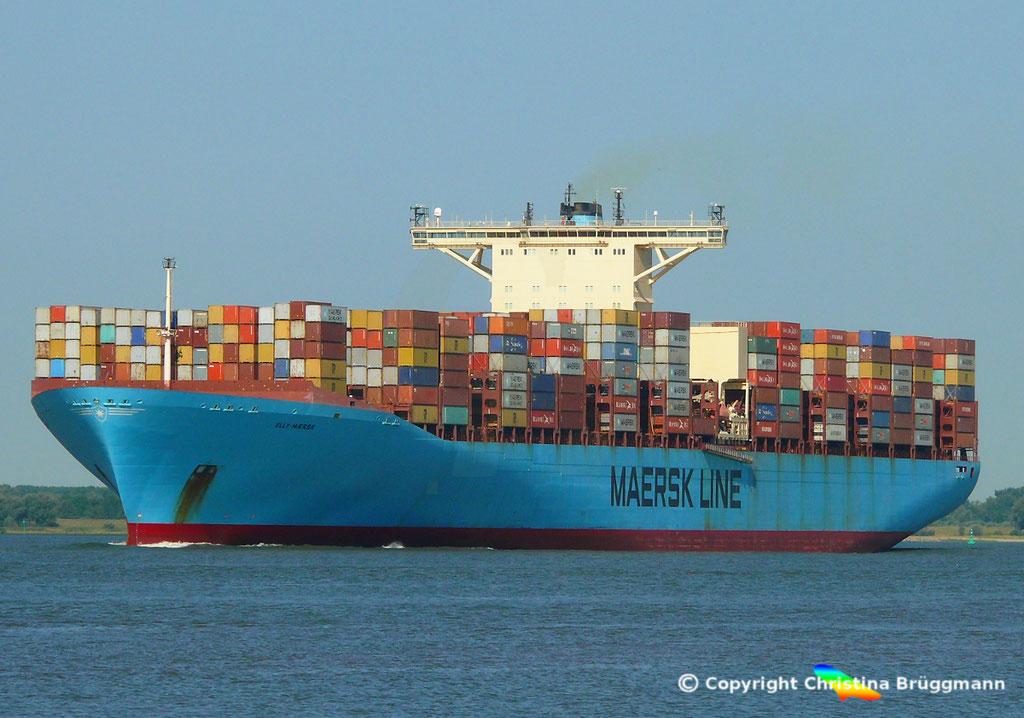 Containerschiff ELLY MAERSK, Elbe 07.08.2018,  BILD 1