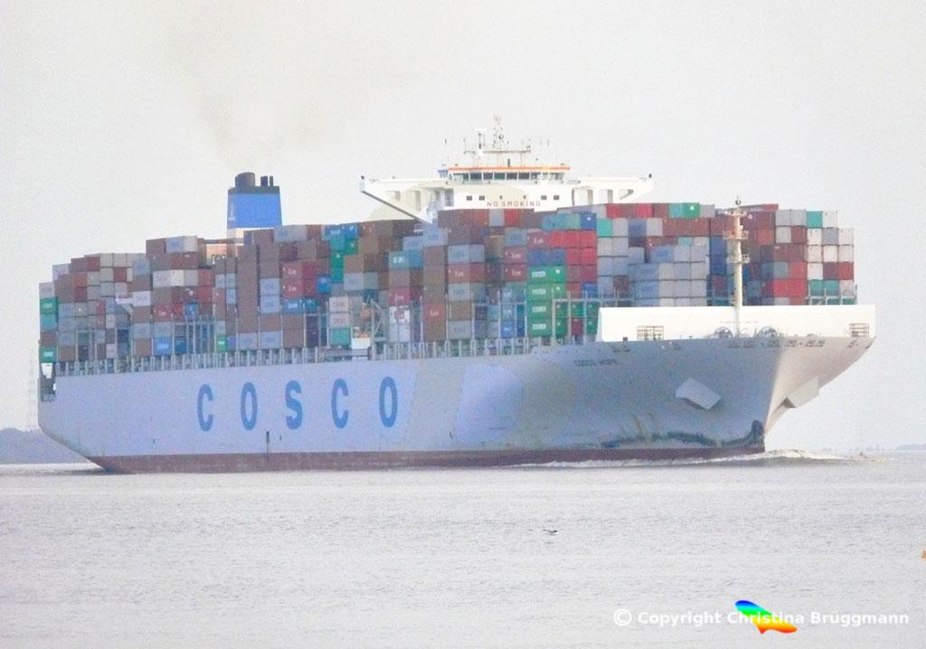 "Containerschiff ""COSCO HOPE""Elbe 07.2013, BILD 2"