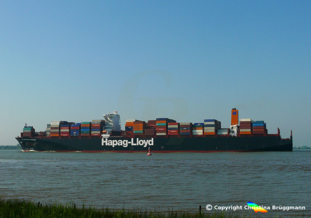 Hapag-Lloyd Containerschiff ANTWERPEN EXPRESS, Elbe 21.08.2015, BILD 6