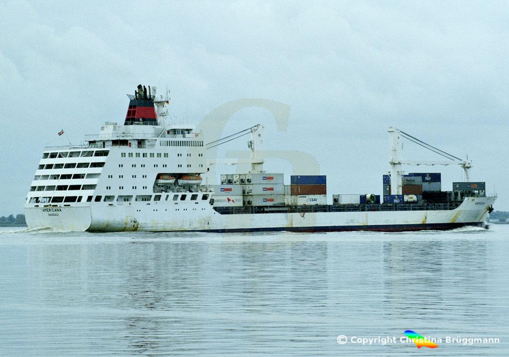 Container- / Passagierschiff AMERICANA, Elbe 2002,  BILD 4