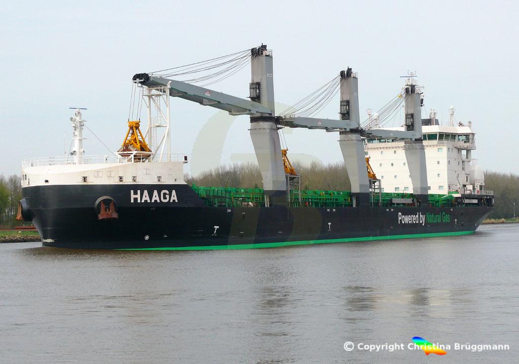 Bulk Carrier/Mehrzweckfrachter HAAGA, Nord-Ostsee-Kanal 02.04.2019,  BILD 4