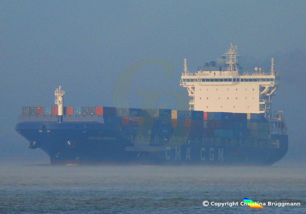 Container-Feeder CMA CGM PREGOLIA, Elbe 03.11.2018,  BILD 7
