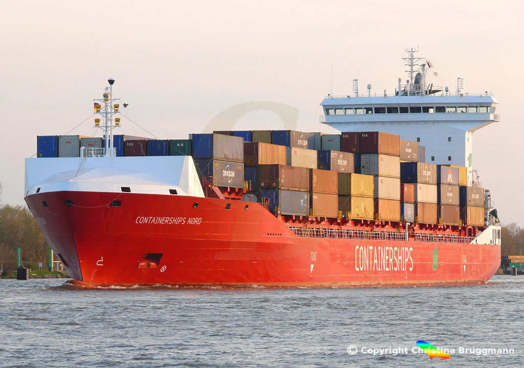 LNG Containerschiff CONTAINERSHIPS NORD, NOK 13.04.2019,   BILD 2