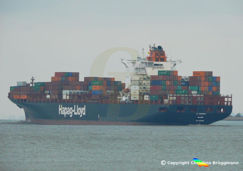 Containerschiff AL RAWDAH, Elbe 14.04.2019,  BILD 5