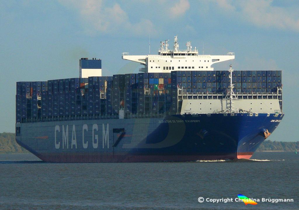 Containerschiff CMA CGM ANTOINE DE SAINT EXUPERY, 40 Jahre CMA CGM, 07.09.2018, Bild 2