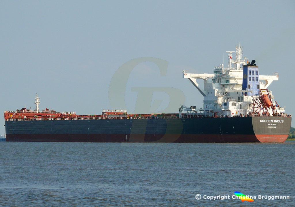 Bulk Carrier GOLFEN INCUS, Erstanlauf Hamburg, 19.07.2018, Bild 3