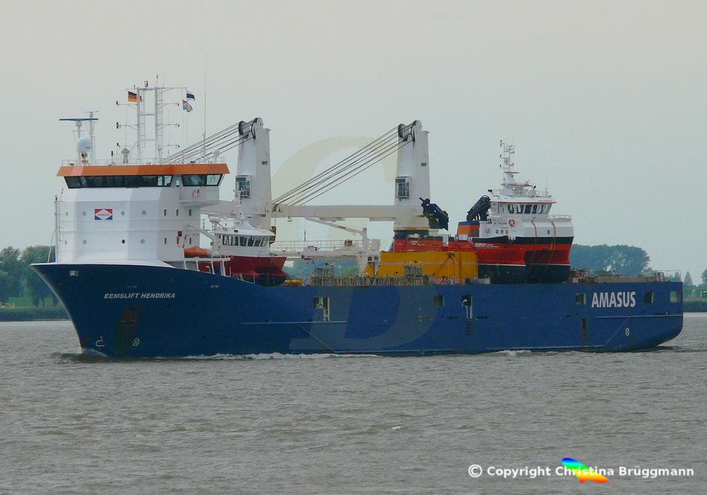 EEMSLIFT HENDRIKA auf der Elbe 18.08.2018 / Bild 2