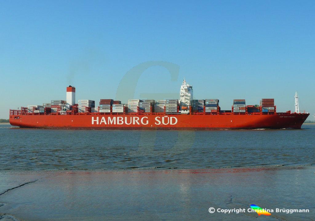 Hamburg Süd Containerschiff CAP SAN VINCENT, Elbe 17.04.2019,  BILD 5