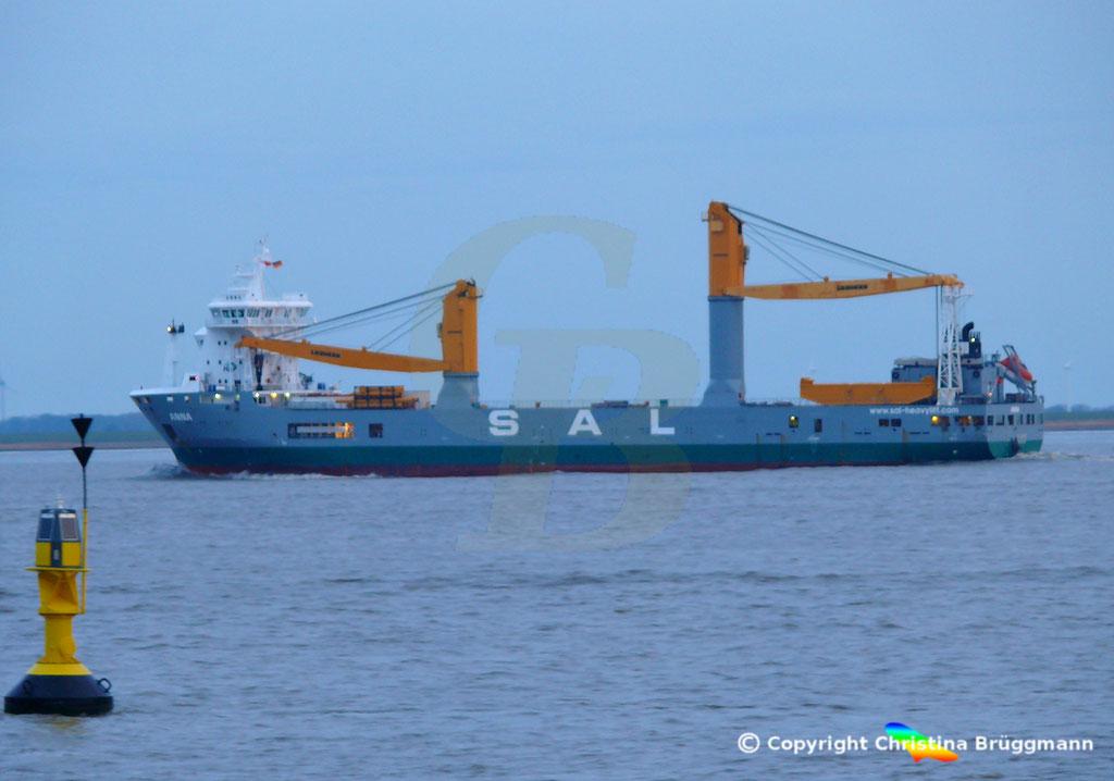 SAL Heavy Lift Schwergutfrachter ANNA, Elbe 30.01.2019,  BILD 6