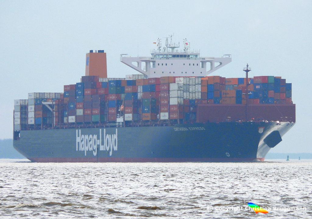 Containerschiff CARTAGENA EXPRESS, Elbe 05.03.2017, BILD 1