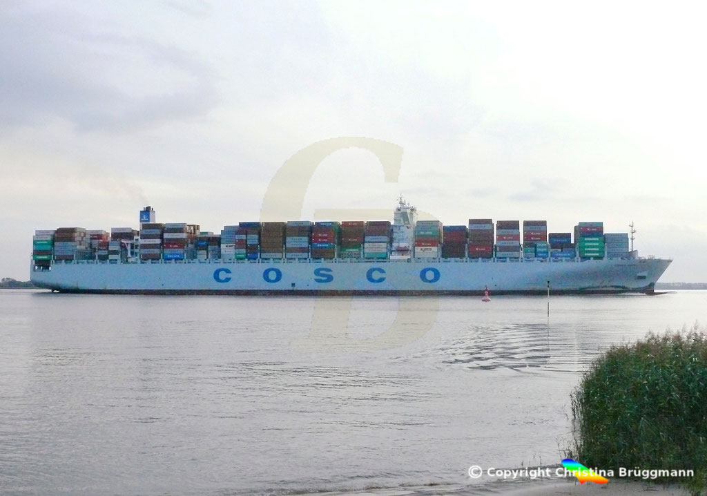 "Containerschiff ""COSCO HOPE""Elbe 07.2013, BILD 5"