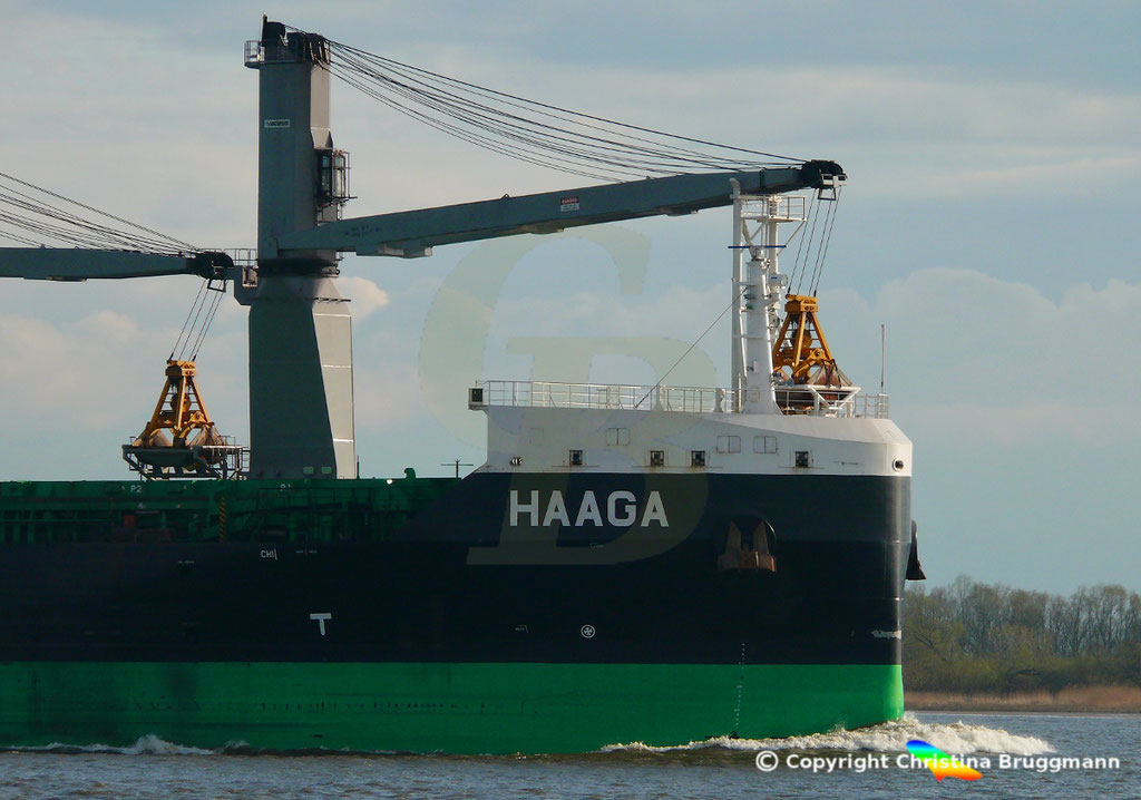 Bulk Carrier/Mehrzweckfrachter HAAGA, Elbe 03.04.2019,  BILD 13