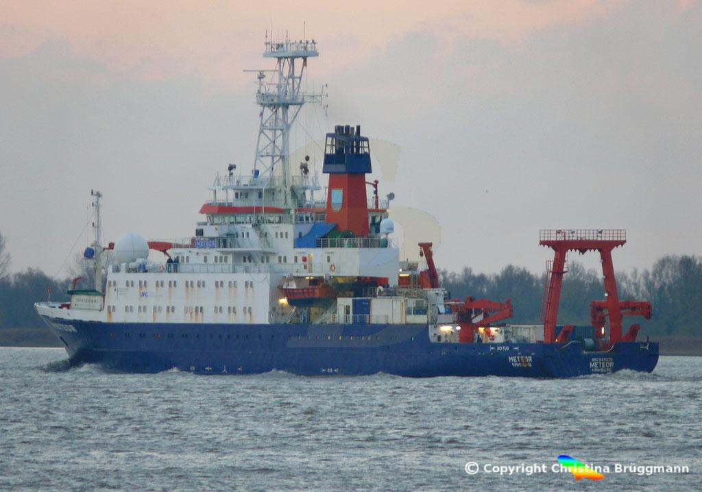 Forschungsschiff METEOR, Elbe 13.11.2018,  BILD 6