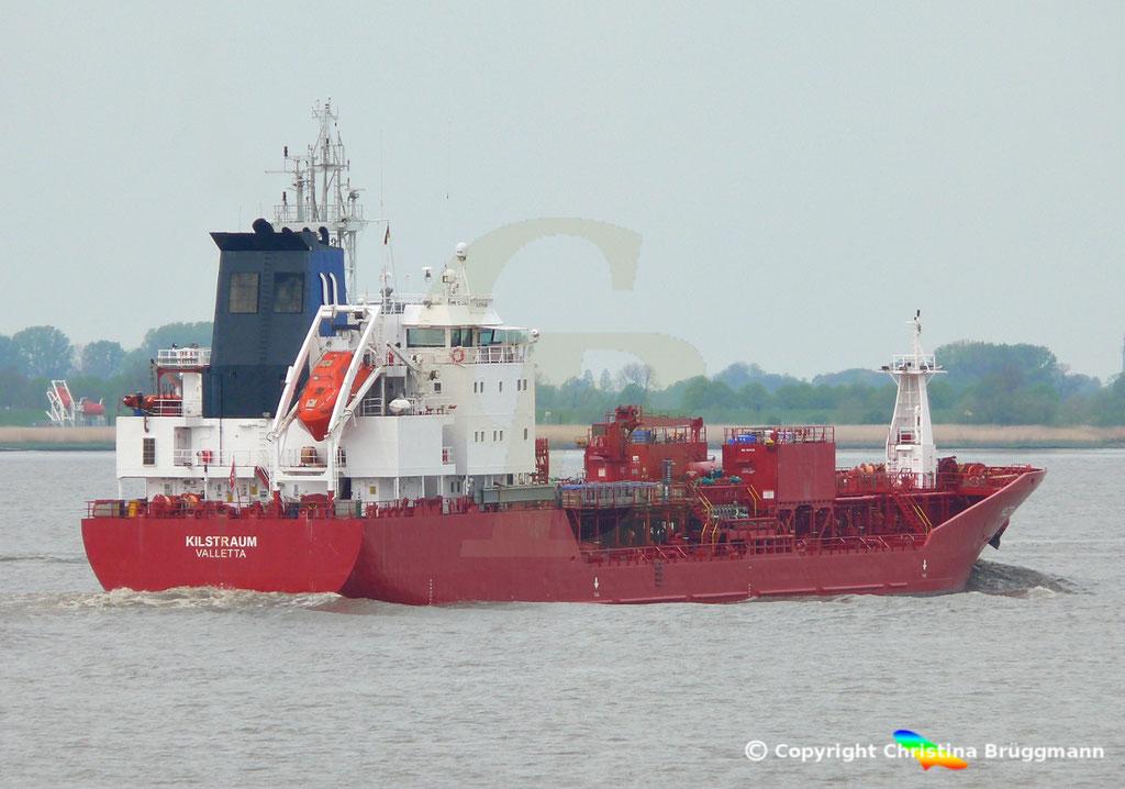 Chemie- / Ölprodukttanker KLISTRAUM, Elbe 08.05.2019 / BILD 5