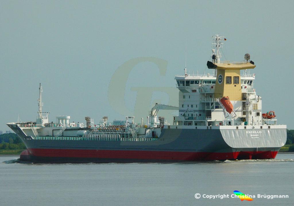 Öl- u. Chemietanker EXCELLO, Elbe 20.07.2018,  BILD 4