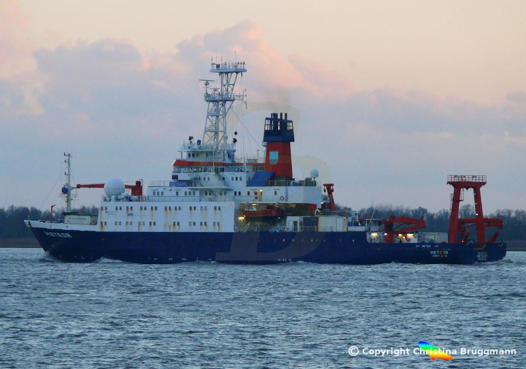 Forschungsschiff METEOR, Elbe 13.11.2018,  BILD 5