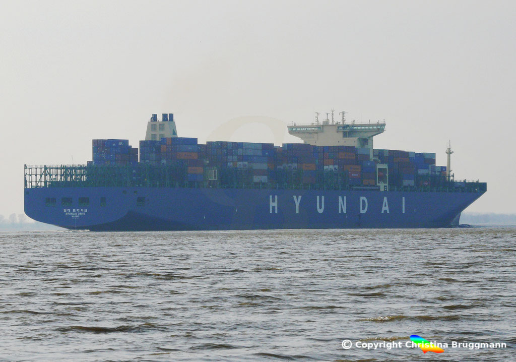 "Containerschiff ""HYUNDAI DRIVE"", Elbe 23.03.2015, BILD 4"
