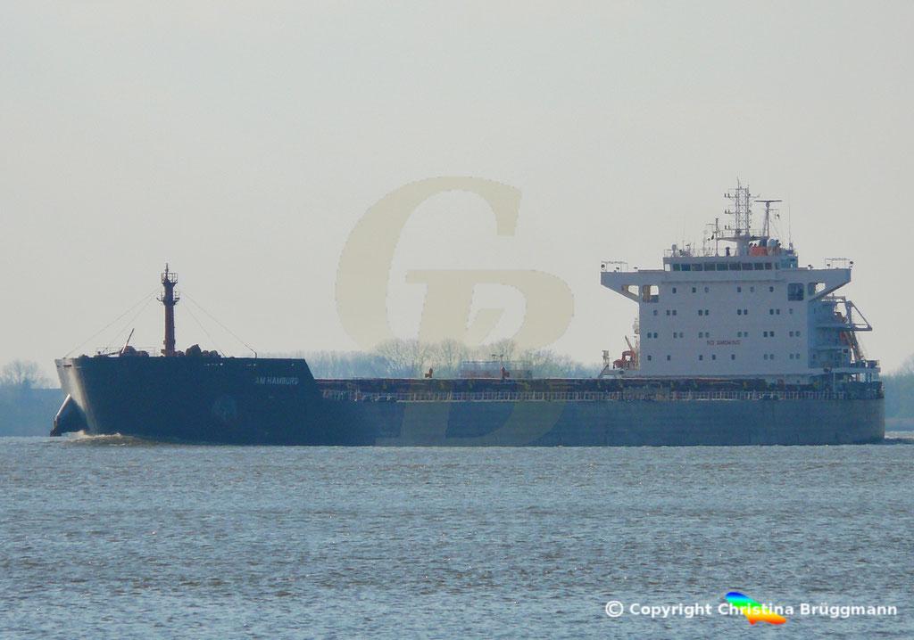 Bulk Carrier AM HAMBURG, 09.04.2019,  BILD 1