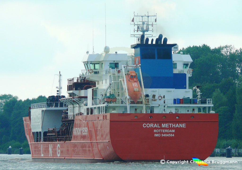 LNG tanker CORAL METHANE, Nord-Ostsee Kanal 14.08.2018,  BILD 6