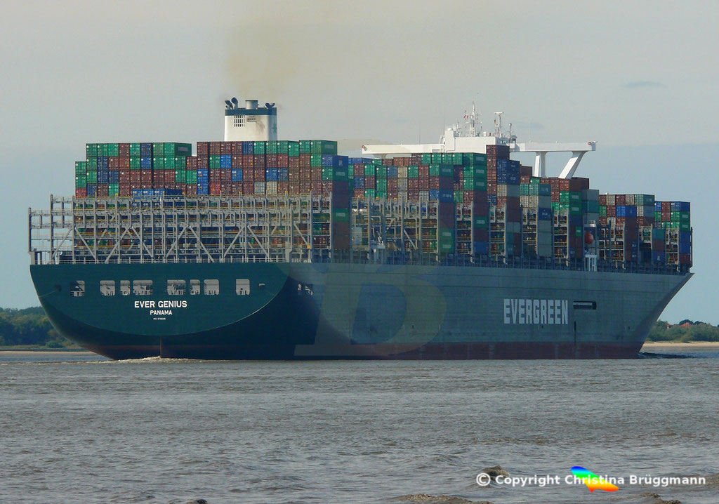 Containerschiff EVER GENIUS, Elbe 14.09.2018, BILD 6
